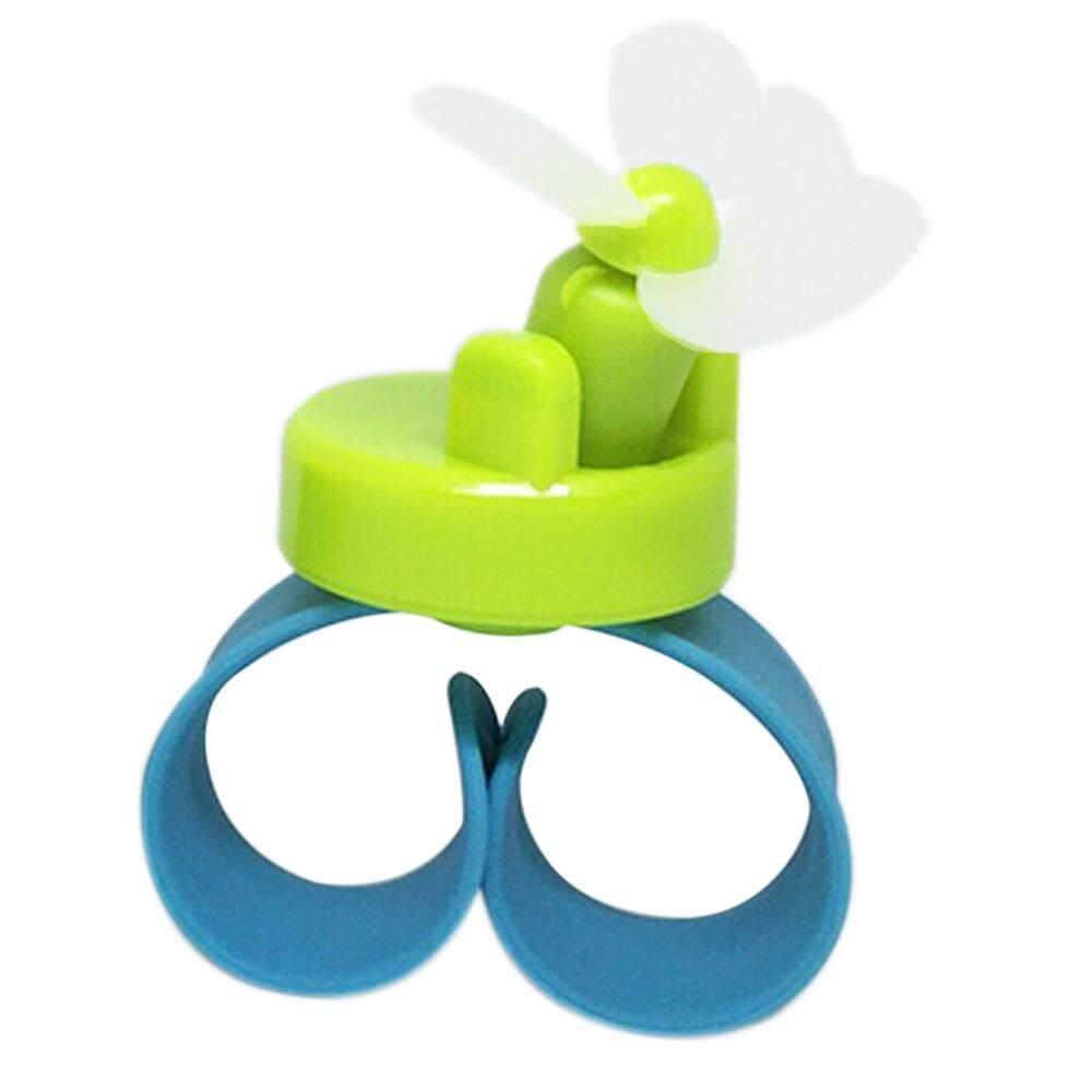 Langsung Menghukum Mati Cotton Gelang Anak-anak Fan Mini Kipas Portabel Pribadi Kipas Genggam Mini Kipas USB dengan Lampu Warna-warni-Intl