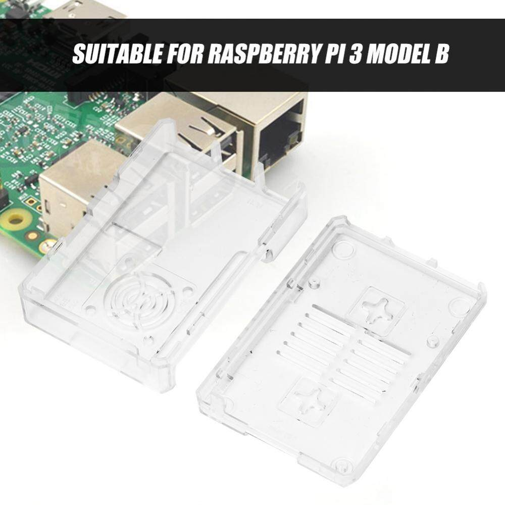 Case For Raspberry Pi Protective Shell Enclosure Box With Fan 3 Model B Transparant Hole Transparent Intl Gi Ch 56000