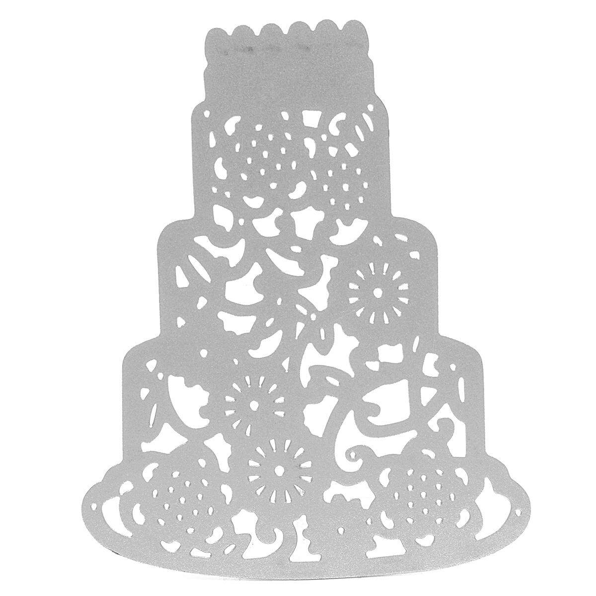 3 Tier Cake Cutting Dies Stencil For Diy Scrapbooking Embossing Decor Craft Card By Glimmer.