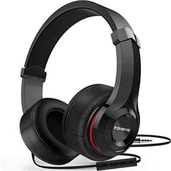 Over Ear Headphones, ToHayie Wired Stereo Headphones, Lightweight Headsets with Volume Control and Microphone,3.5mm Plug for iPhone,Samsung,Laptop,Computer,Movie,Kids and Youth,Black - intl