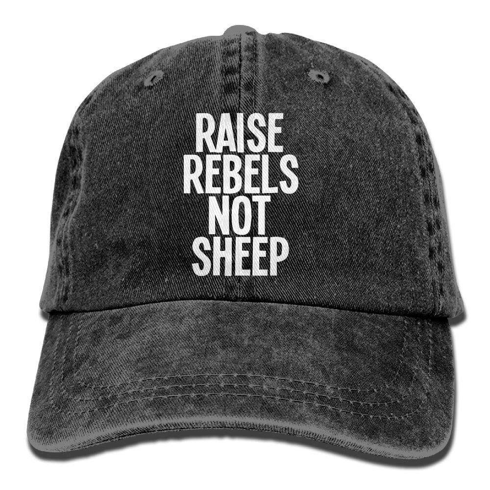 6749118064f Richard Raise Rebels Not Sheep Adult Cotton Washed Denim Travel Caps Hats  Adjustable Natural - intl