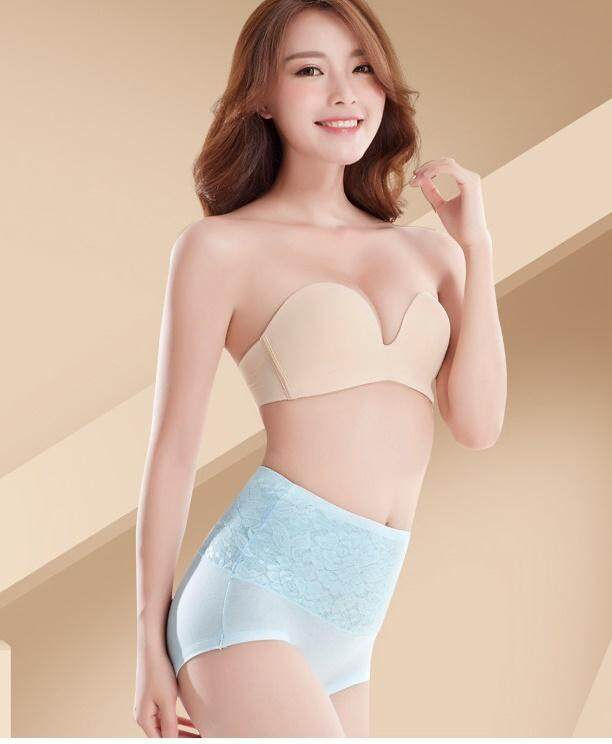 Bolster Store Plus Size 3D Midi Waist Lace Firm Tummy and Hips Lifting Panties Seamless Shapewear Shaper Wanita Slimming underwear Panties