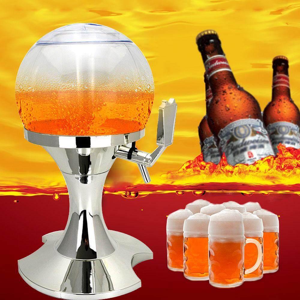 leegoal Spherical Beer Dispenser Machine Liquor Wine Juice Beverage Dispenser With Built-in Ice Container Drink Dispenser Bar Tools - intl