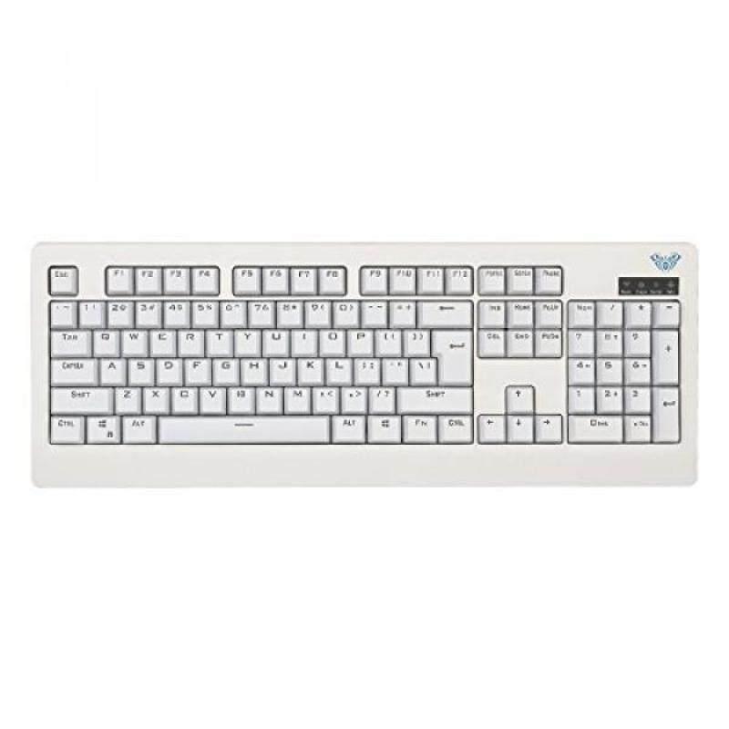 Aula-Mechanical Demon King, Mechanical Keyboard, Blue Switches, Wired USB Gaming Keyboard,104-Key, Anti-Ghosting for PC,Mac,Laptop,Gamer(White) - intl Singapore