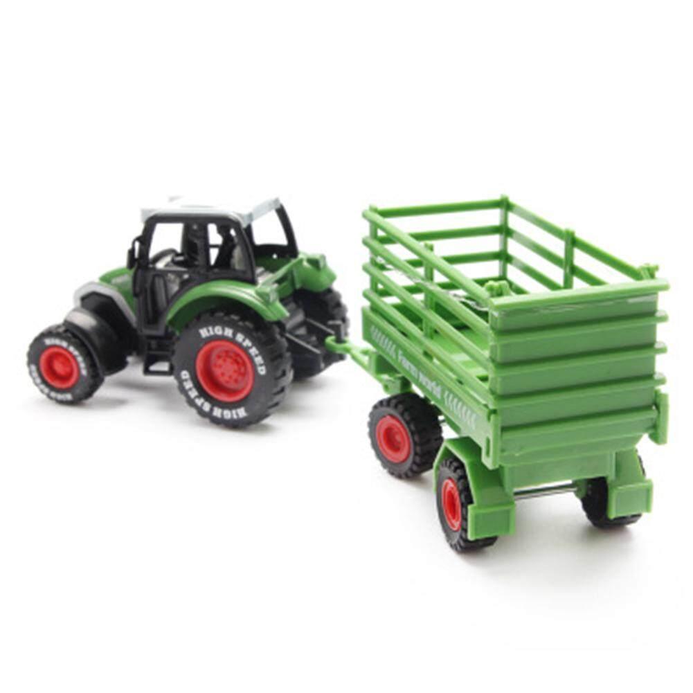 Mainan Indah Inersia Pertanian Model Kendaraan Mainan 1: 64 Paduan Farmer Mobil/Tanker/Flatbed Trailer/Trailer Mobil Tarik Kembali Mobil Mainan untuk Hadiah Collection Gaya: farmer Mobil