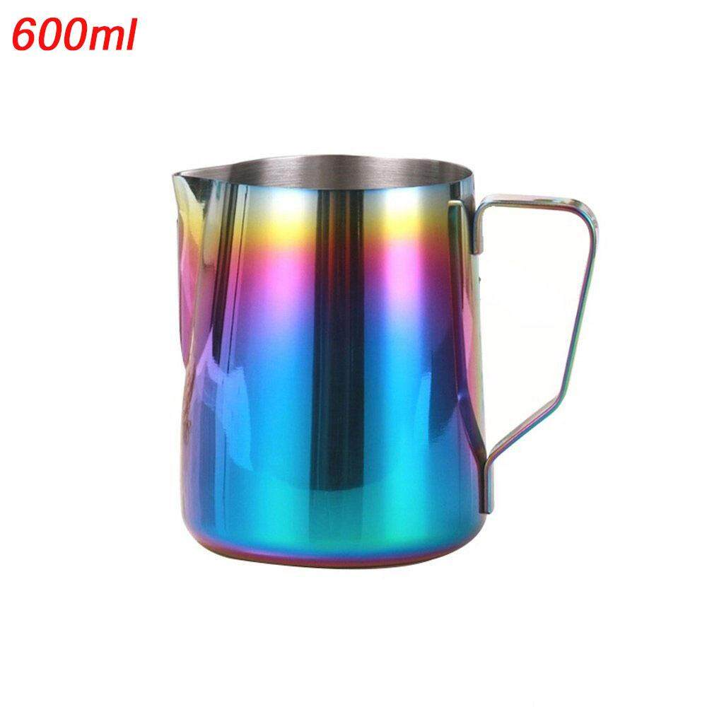 Niceeshop Milk Frothing Pitcher Stainless Steel - Rainbow Color Custom Coffee Mugs - Milk Steaming Frother For Espresso Machines,milk Frothers Latte Art, Cappuccino Maker (350ml/600ml) - Intl By Nicee Shop
