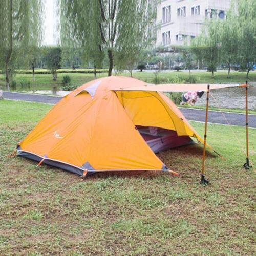 FLYTOP WATERPROOF DOUBLE LAYER CAMPING TENT TWO PERSON USE (ORANGE)