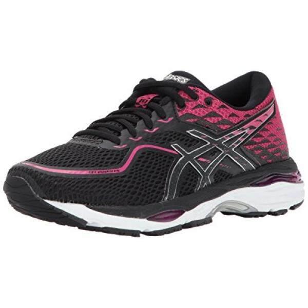 ASICS Womens Gel-Cumulus 19 Running Shoe, Black/Silver/Ink Peacoat, edium US - intl