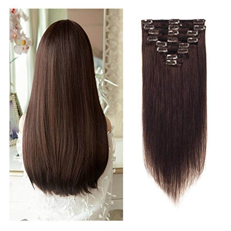 Who Sells The Cheapest Lflin Lflin Clip In Human Hair Extensions 100 Real Remy Dark Brown Full Head Long Soft Silky Straight 8Pcs 18Clips For Women Beauty From Usa Intl Online