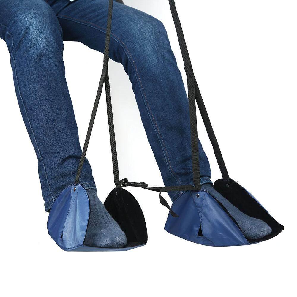 Kobwa Foot Rest, Portable Travel Adjustable Height Footrest Flight Carry-on Office Rest Foot Hammock - intl