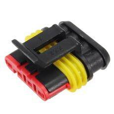 15 Kit 2 3 4 Pin Tersegel Tahan Air Kawat Listrik Konektor Plug Mobil IP68-