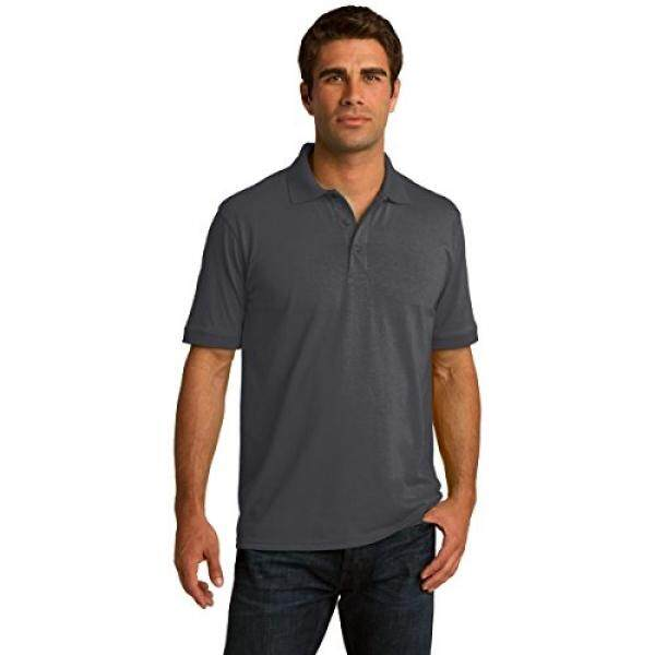 Clothe Coens Big & Tall Short Sleeve Jersey Knit Polo Shirt, 4XLT, Charcoal - intl