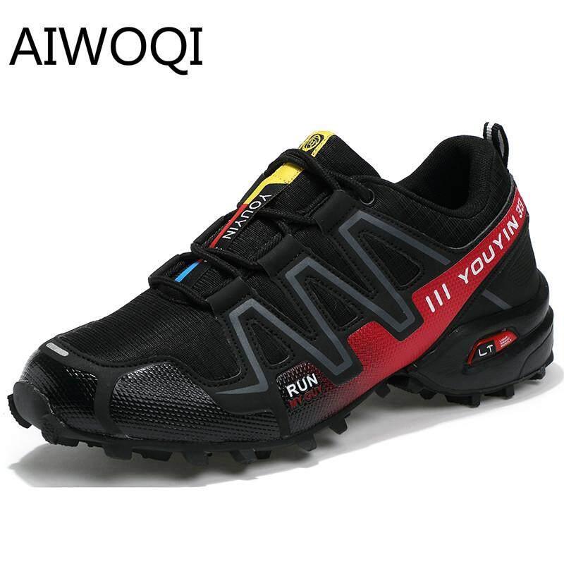 Aiwoqi Olahraga Outdoors Sepatu untuk Pria Rendah Anti-Air Non-slip Sepatu Daki Gunung Luar Ruangan Pendakian Daki Gunung Sepatu untuk Pria 45 46 Ukuran-Internasional