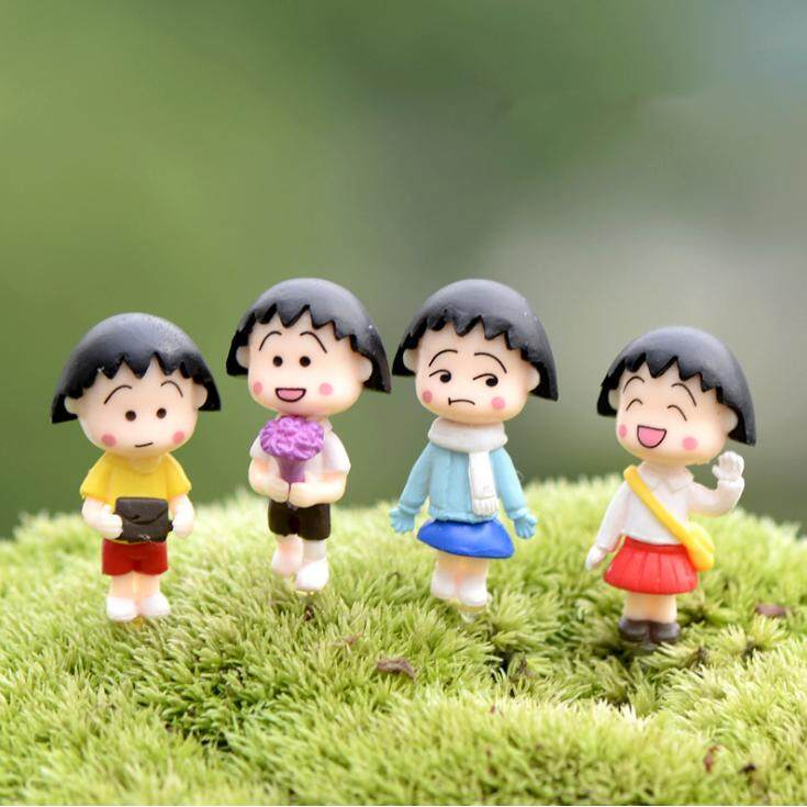 4pcs Terrarium Material Accessories Fairy Garden Miniature DIY Accessories - Chibi Maruko-chan