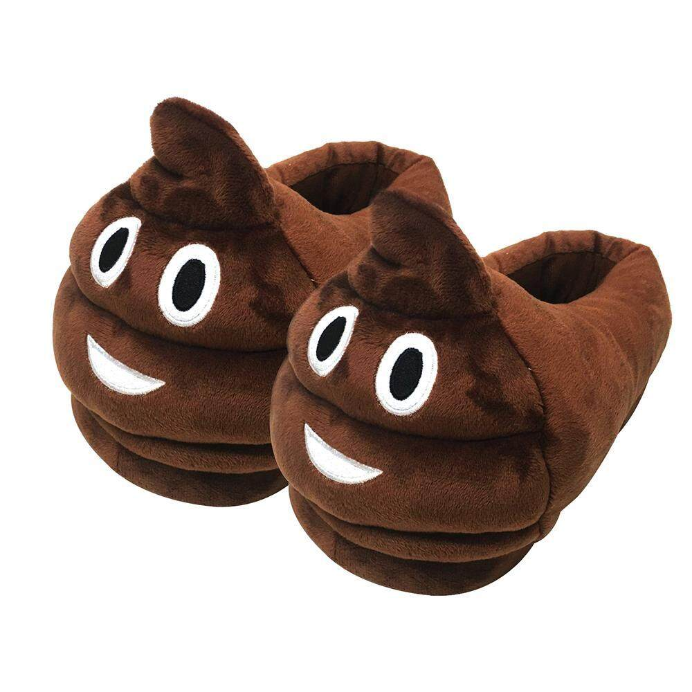 9a5294129cb86 opoopv Unisex Boys Girls Warm Soft Cozy Plush Emoji Slippers Indoor House  Cute Slippers - intl