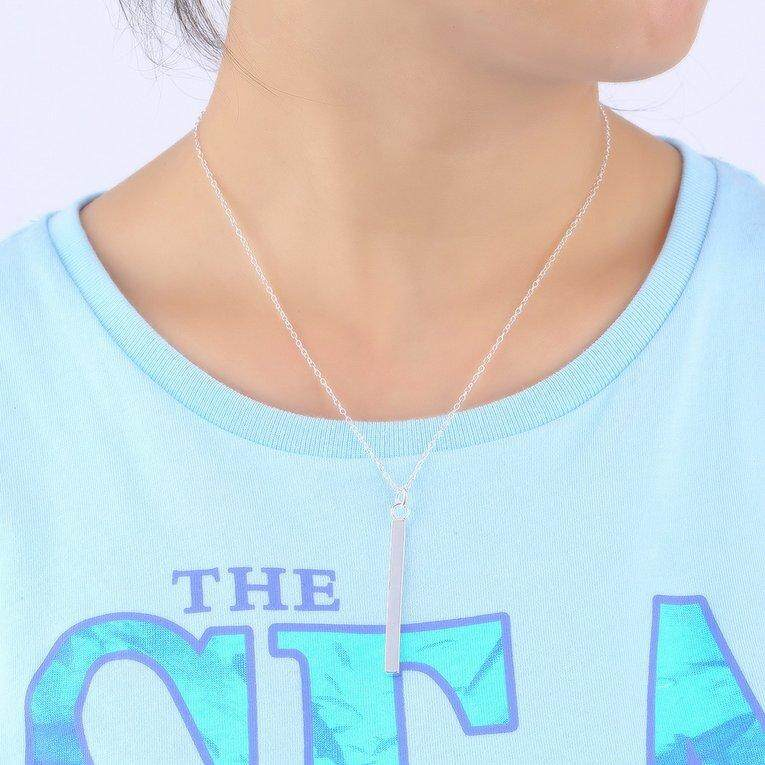 ... UINN Chic Simple Girl Geometry Pendant Necklace and Earrings Fashion Jewelry Set - 4 ...