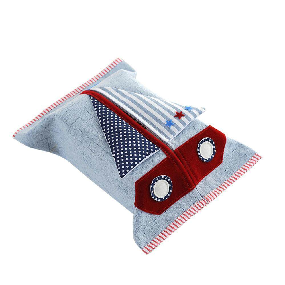 hogakeji Cartoon Travel Tissue Holder Cotton Linen Fabric Pocket Tissue Pouch Cover - intl