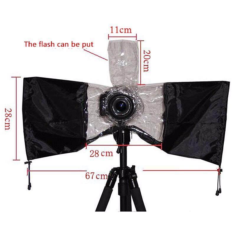 Karet Universal Kamera Jas Hujan Pelindung Tas Tahan Air Tahan Debu untuk Canon Nikon Pendax untuk Sony DSLR-Internasional