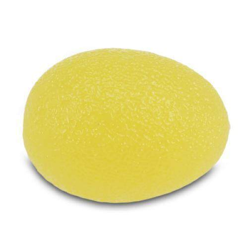 Silicone Egg Hand Gripper Strength Stress Relief Power Ball (YELLOW)
