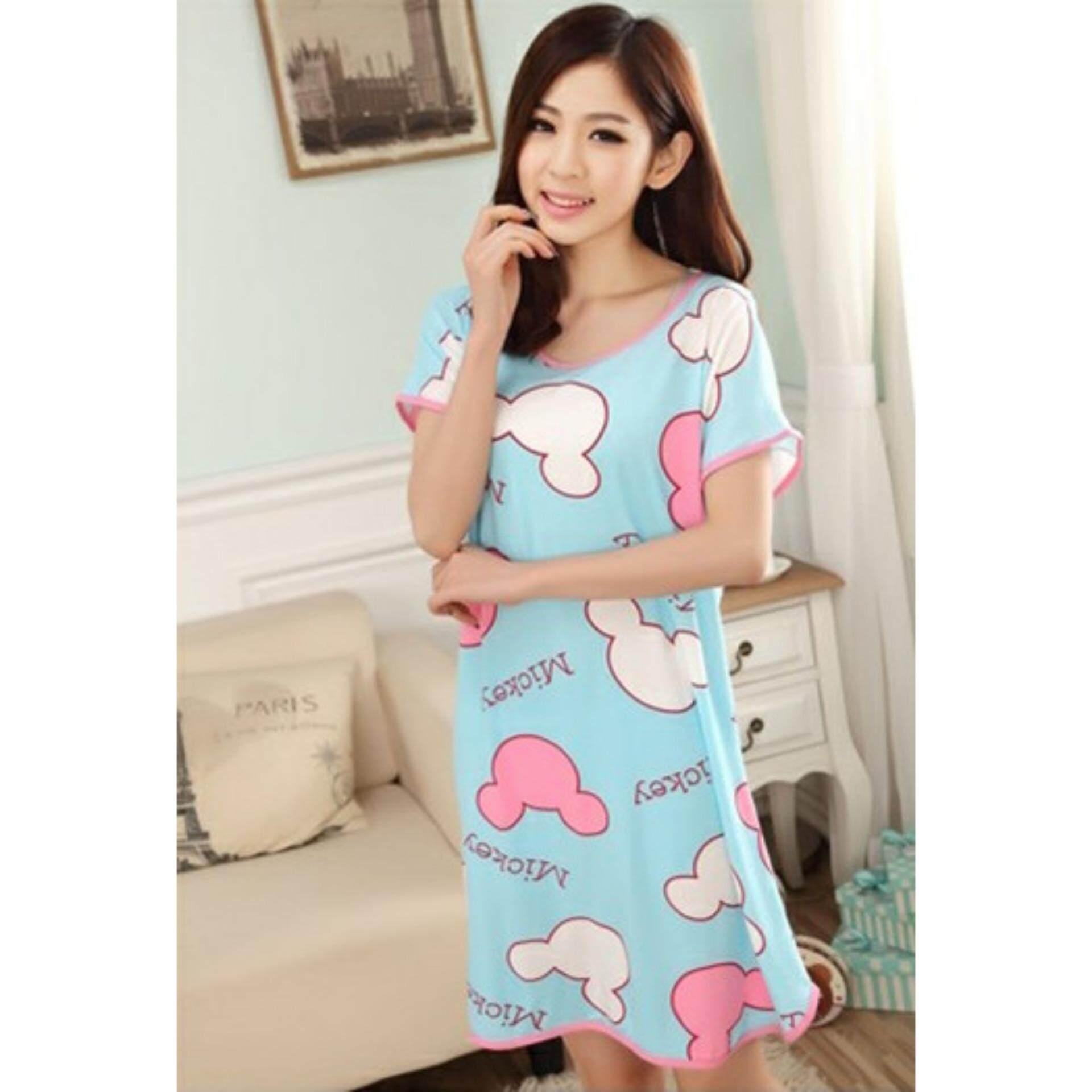 Cute & Comfy Cartoon Nightwear (Mickey Blue) - 1pc