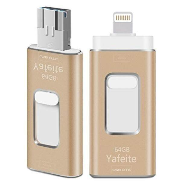 Memory Stick 64GB Flash Drive External Storage Expansion Connector for iPhone iOS PC Android Yafeite 3 in 1 - intl