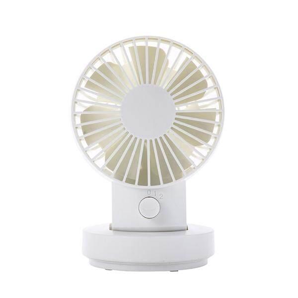 Hình ảnh Portable Mini 3 Levels of Wind Speed USB Fan Battery Powered Rechargeable Adjustable Desk Fan Pivoting Fan