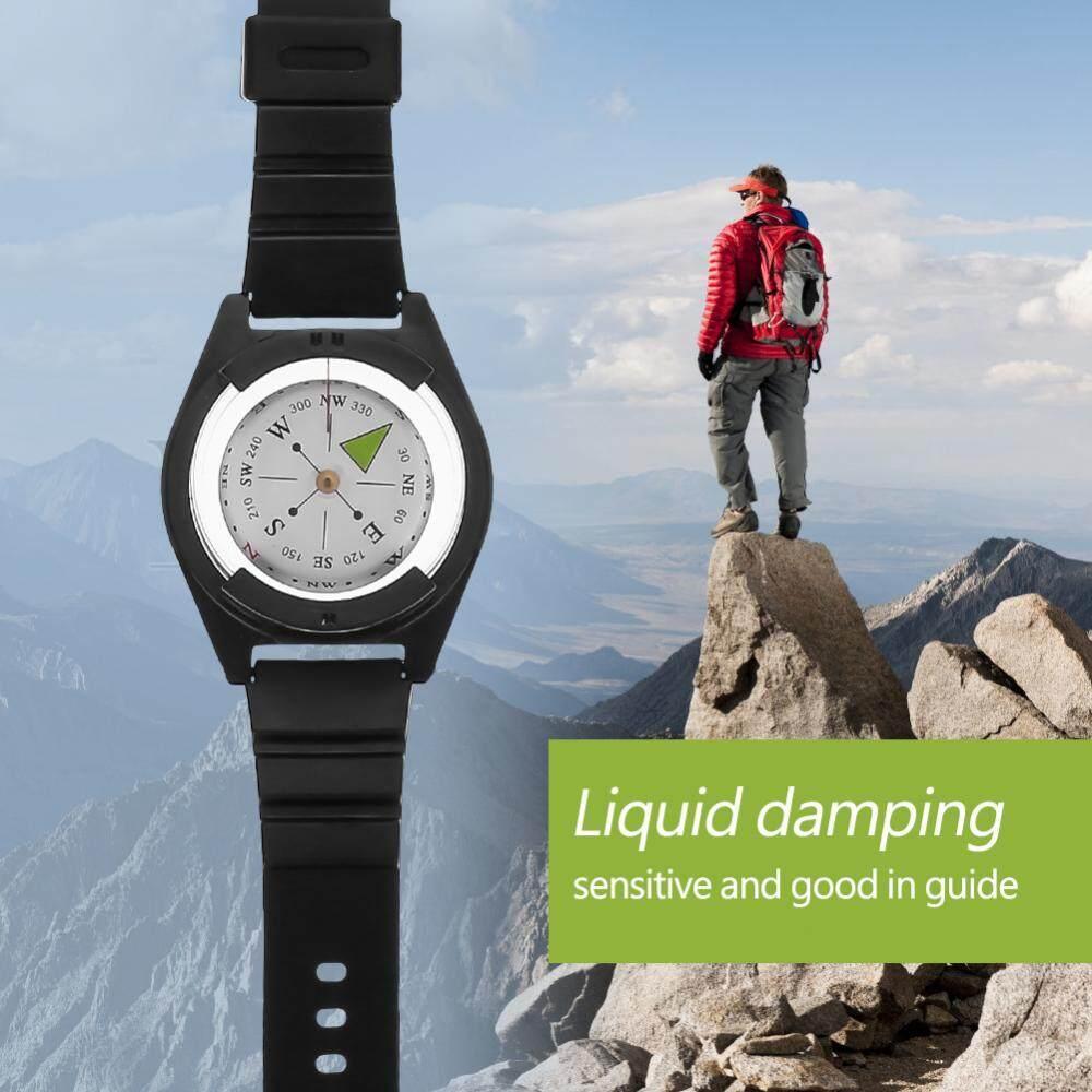 Outdoor Mini Lightweight Wristwatch Abs Compass Rubber Watchband Tool Accessory - Intl By Highfly.