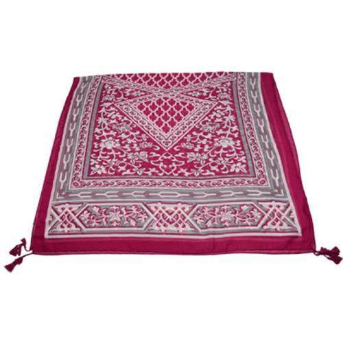 ETHNIC FLOWER ANTHEMY PATTERN VINTAGE SHAWL SCARF (RED)