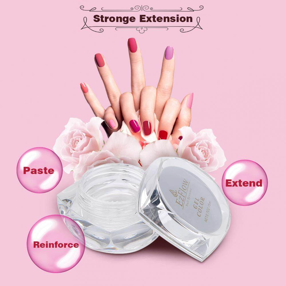 Pembangun Sinar UV Gel Kuku Gel UV Transparan Seni Kuku Bening Manikur Tips .