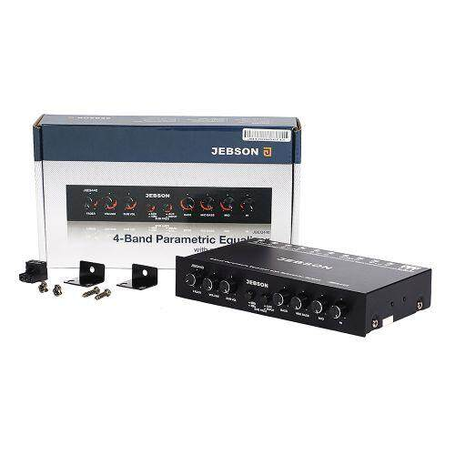 Jebson 4 Band Parametric Equalizer With car Subwoofer Output JBEQ440