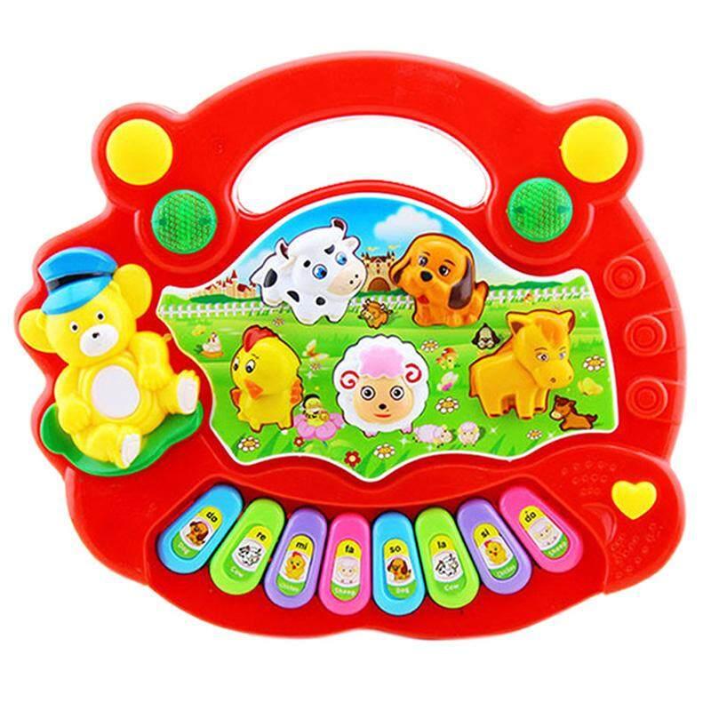 Dsstyles Anak-anak Lucu Animal Farm Piano Elektronik Organ Pendidikan Awal Mainan Musik untuk Bayi-Internasional