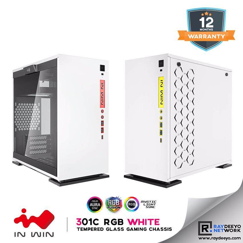 IN WIN 301C RGB (WHITE) Mini Tower Tempered Glass Gaming Chassis [Matx, Mini-ITX] Malaysia
