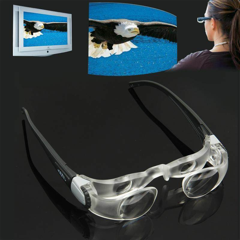 2.1X TV Magnification Glasses for Shortsightedness People (Range of Vision: 0 to -300 Degrees)(Black) - intl