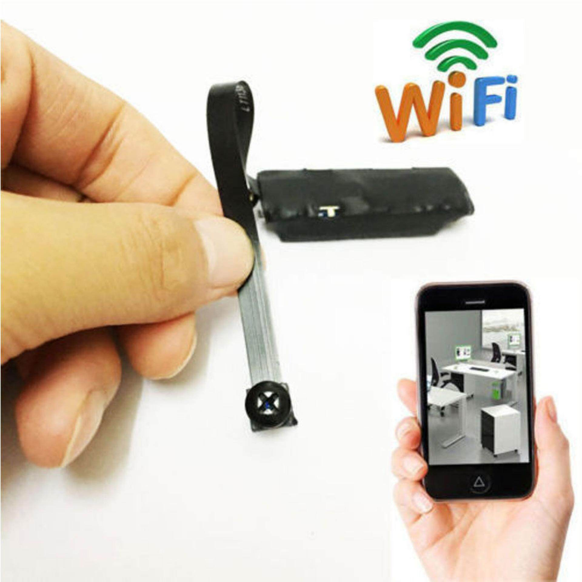 Mini Spy Camera Wireless Wifi Ip Pinhole Diy Digital Video Camera Mini Micro Dvr Color:black By Danlong Store.