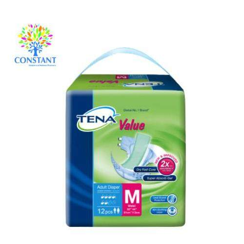 Tena Value Adult Diaper M 12's