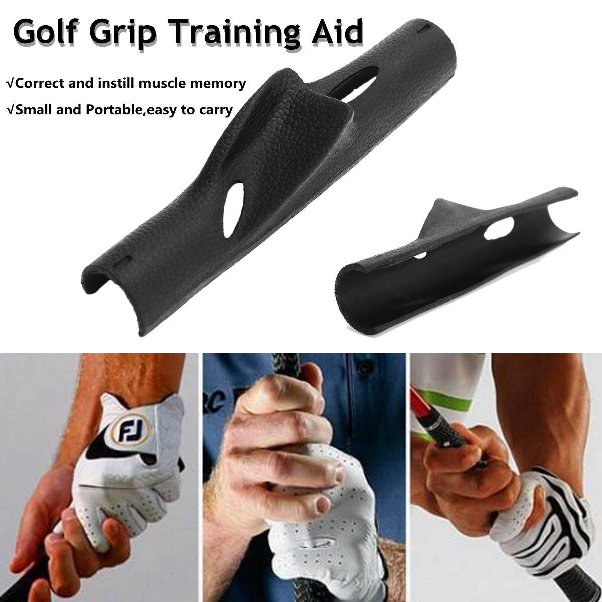 Hình ảnh Golf Swing Grip Training Club Aid Practice Guide Gift Correct Muscle Memory MECO - intl