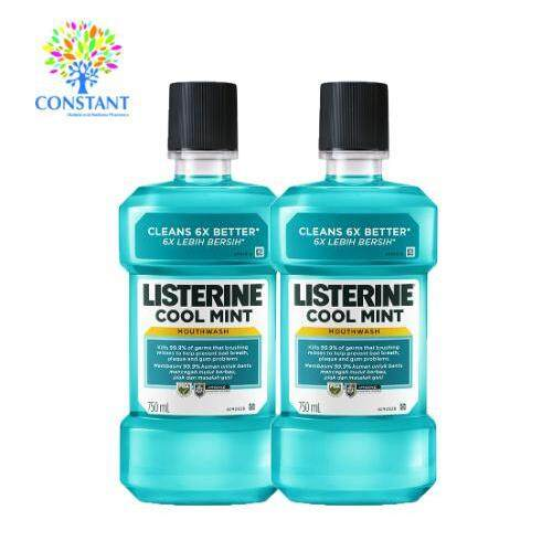 Listerine Coolmint Antiseptic Mouthwash 750ml x 2