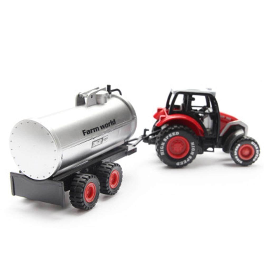 Mainan Indah Inersia Pertanian Model Kendaraan Mainan 1: 64 Paduan Farmer Mobil/Tanker/Flatbed Trailer/Trailer Mobil Tarik Kembali Mobil Mainan untuk Hadiah Collection Gaya: tanker
