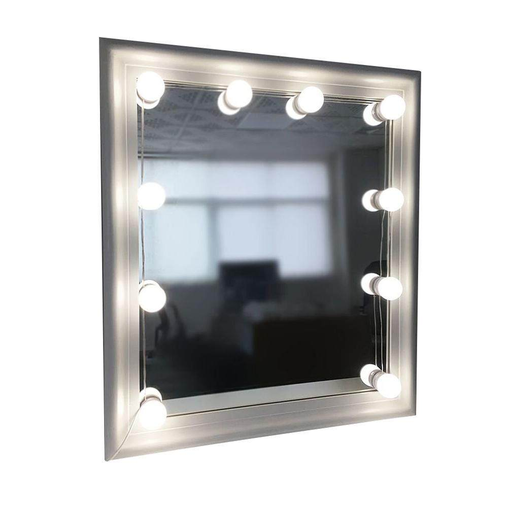 niceEshop Makeup Mirror Lights Hollywood Style LED Vanity Mirror Lights 10 LED Bulbs Kit For Makeup Dressing Table Dimmable In Lighting Fixture Strip ( Mirror Not Included ) - intl