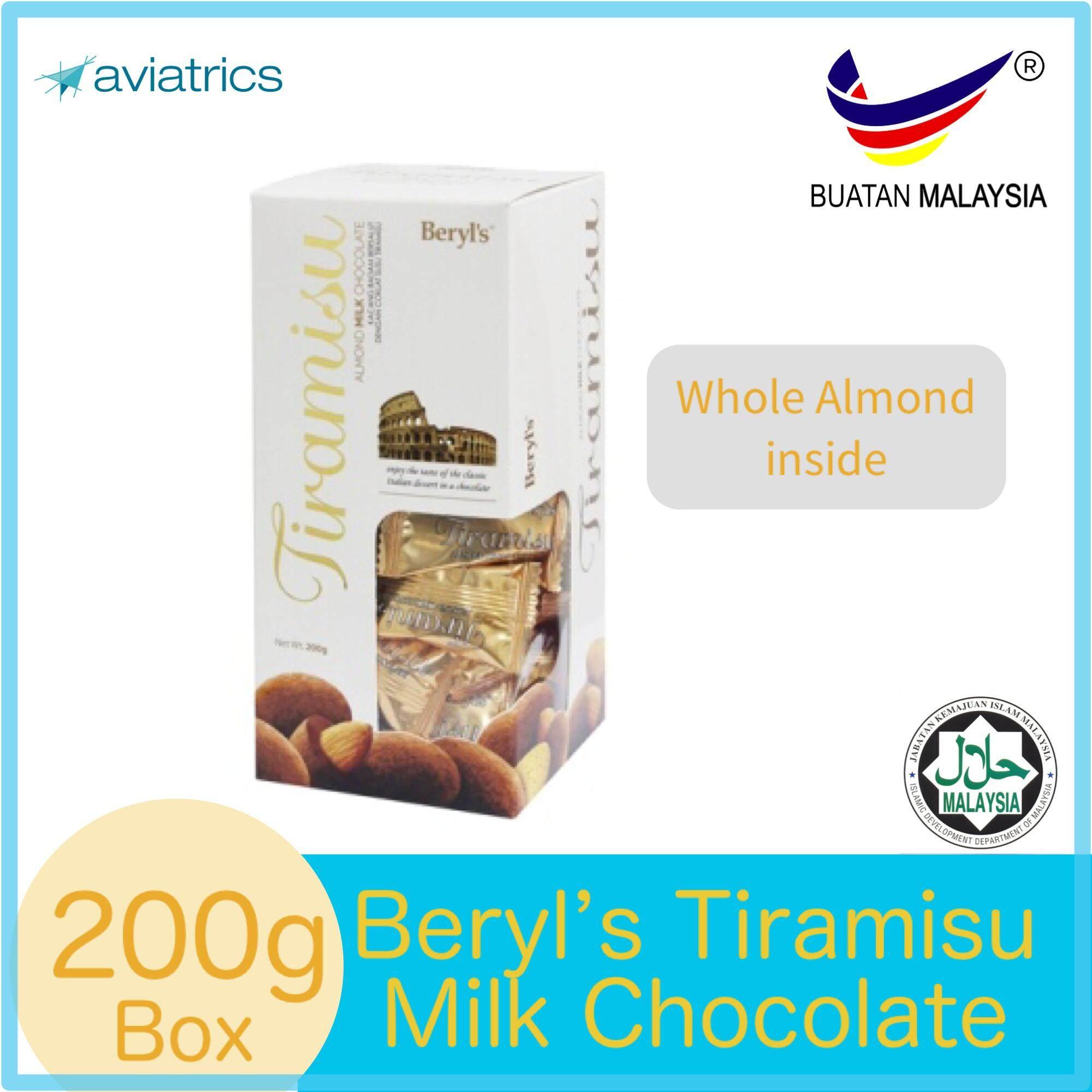 Beryl's Tiramisu Almond Milk Chocolate 200g (Made in Malaysia)