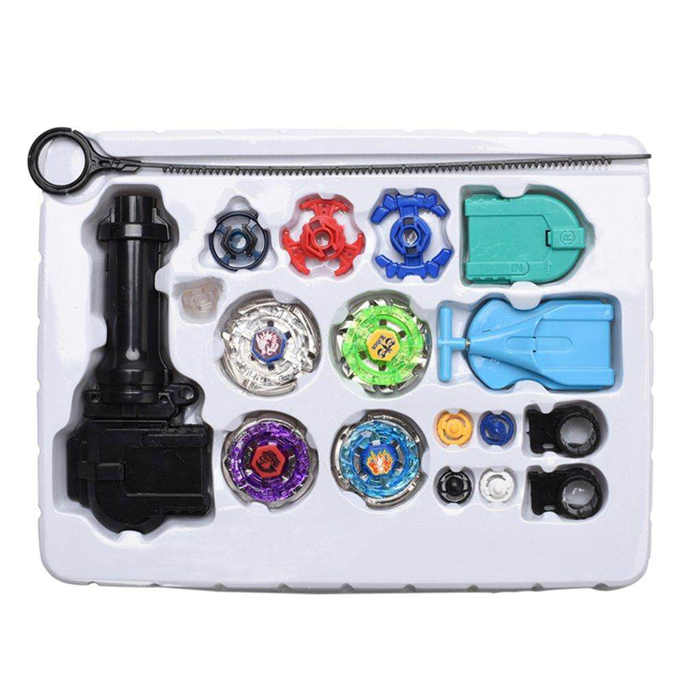 Hình ảnh GoSport Kids 4D Fusion Top Metal Master Rapidity Fight Rare Beyblade Launcher Grip Set
