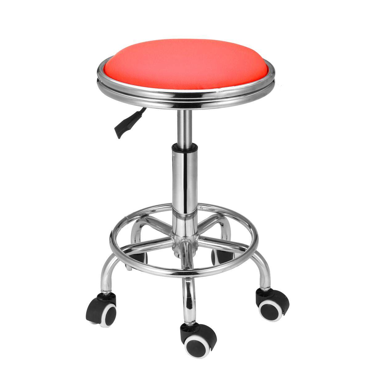 Salon Stool Hairdressing Chair Barber Beauty Swivel Hydraulic Lift PU Equipment Red