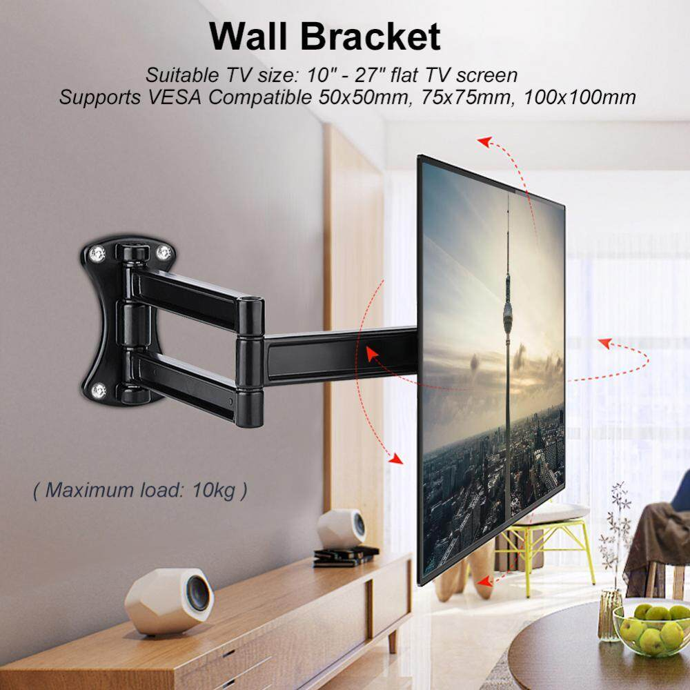 Sale Tv Mount Wall Bracket Tilting Swivel Mount Stand Holder For 10 27 Inch Flat Tv Led Lcd Screen Intl Oem Wholesaler