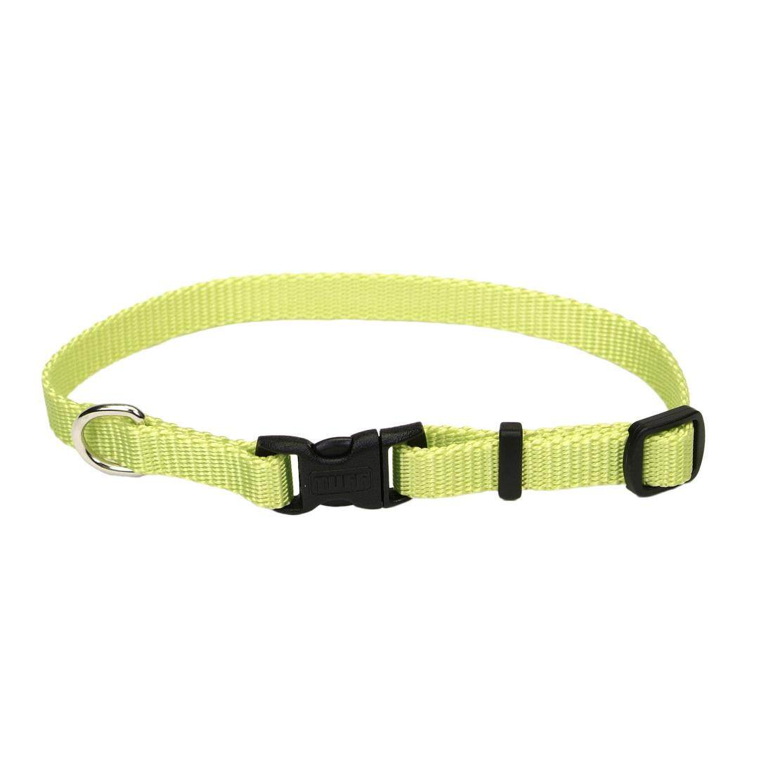 "[Coastal] Adjustable Nylon Dog Collar with Plastic Buckle 3/4"" M - Lime"
