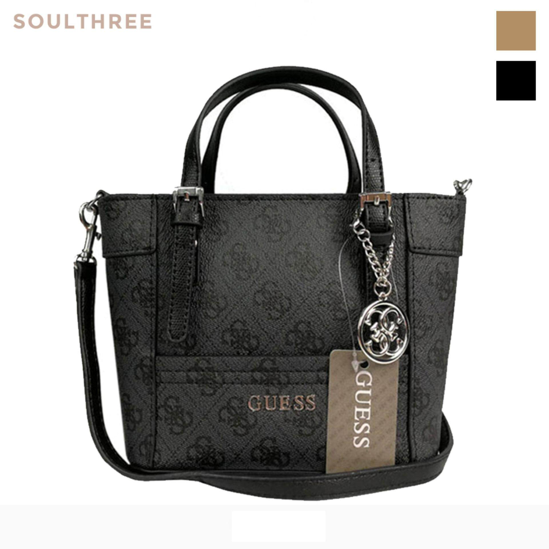 Guess Imported Delaney Signature Logo Pattern Pee Mini Crossbody Handbag Messenger Sling Shoulder Bag