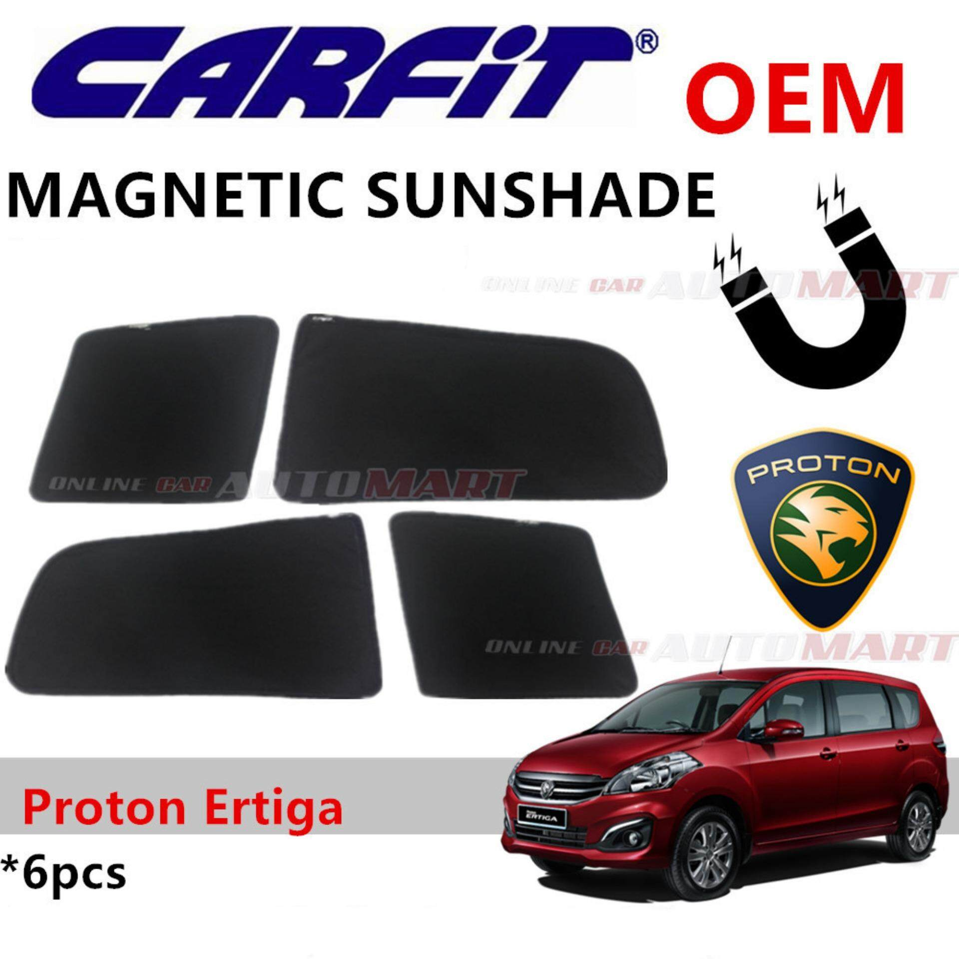 CARFIT OEM Magnetic Custom Fit Sunshade For Proton Ertiga (6pcs Sets)