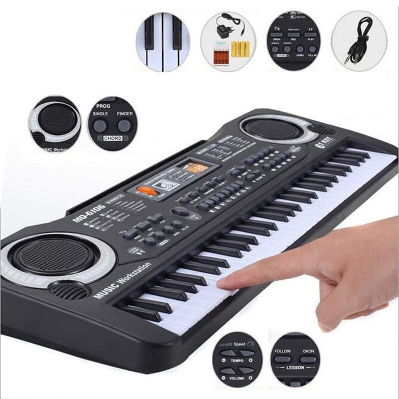 Lissng 61 Keys Digital Music Electronic Keyboard Key Board With Mic For Kids High Quality By Lissng.