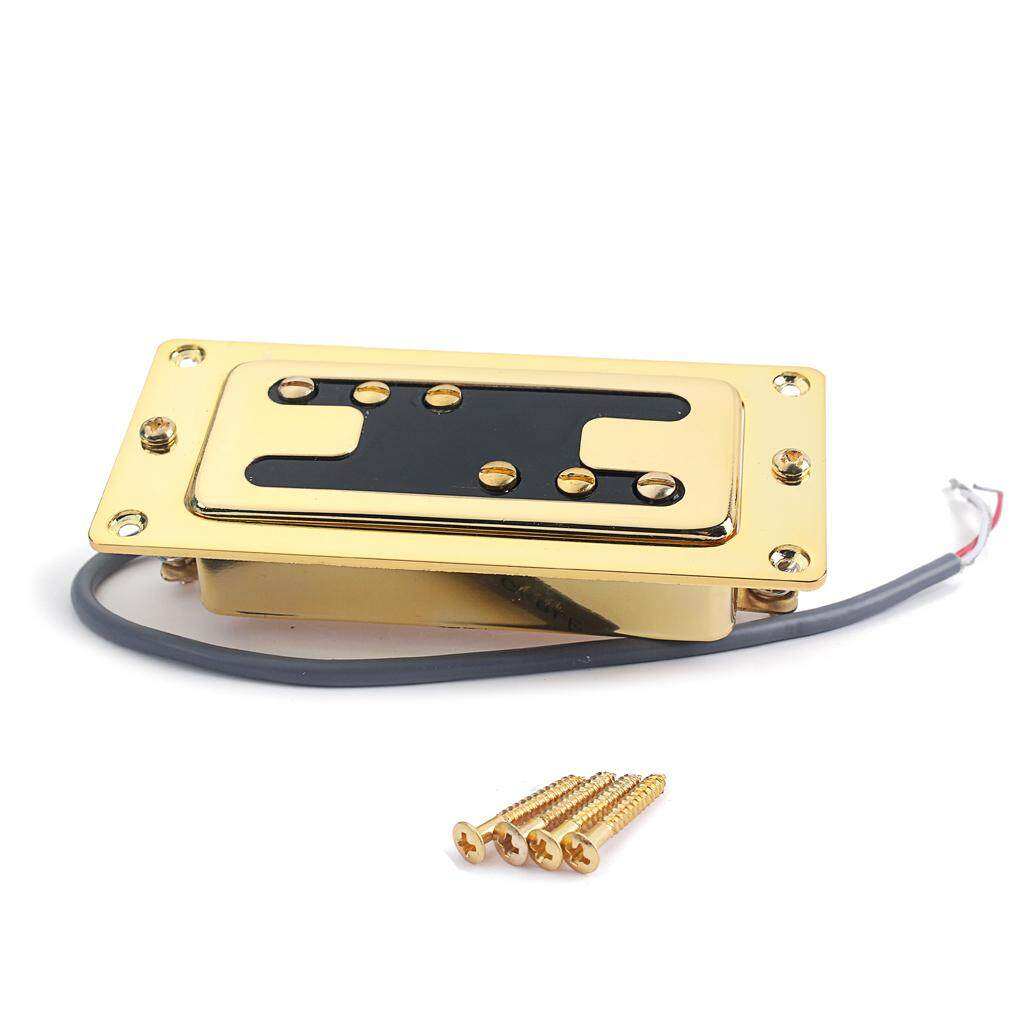 Miracle Shining Electric Guitar Humbucker Double Coil Pickup Guitar Replacement Parts Gold - intl