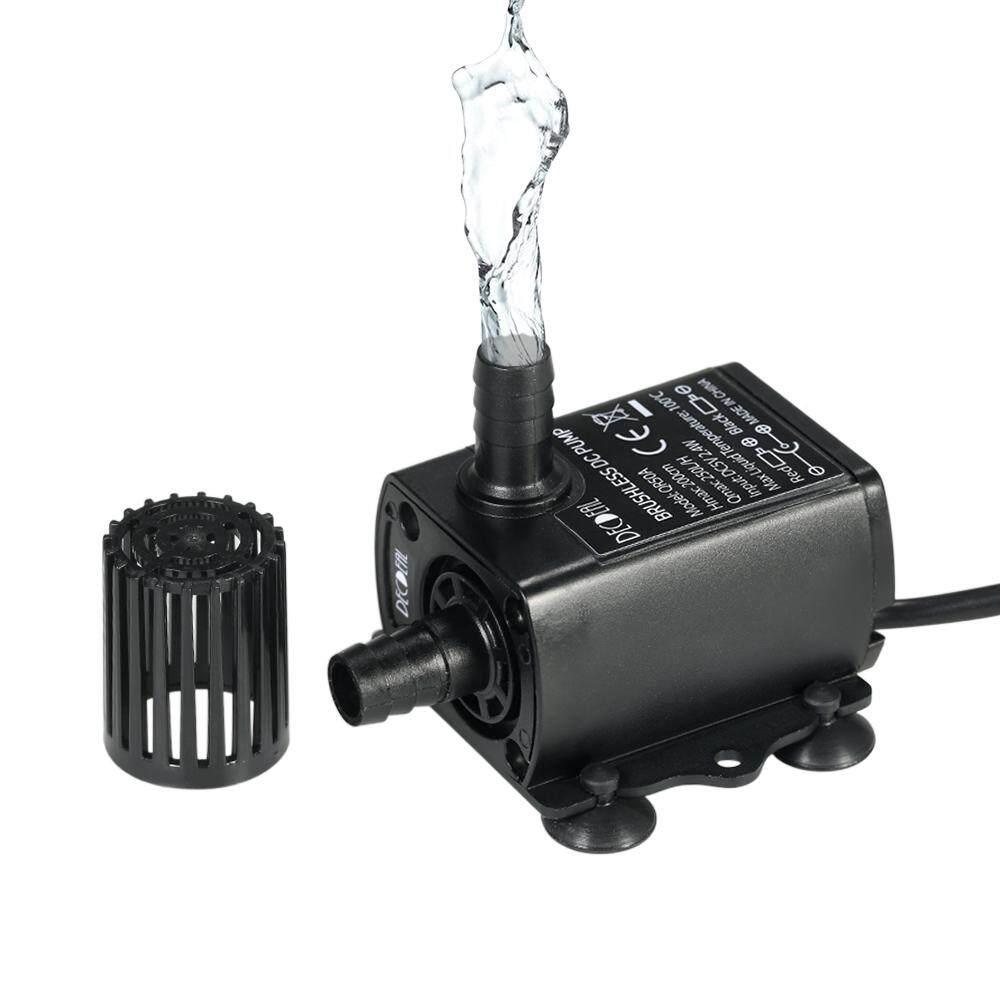 Decdeal USB DC5V 2.4 W Ultra-Quiet Mini Brushless Air Anti-Air Submersible Air Mancur Akuarium Beredar 250L/H lift 200 Cm-Internasional