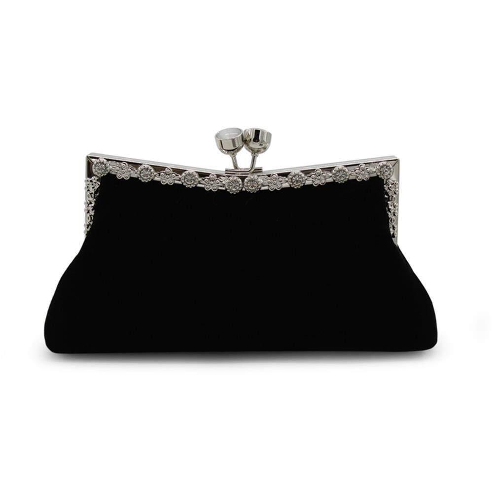 Velvet dengan Dompet Berlian Tas untuk Acara Di Malam Hari-Intl